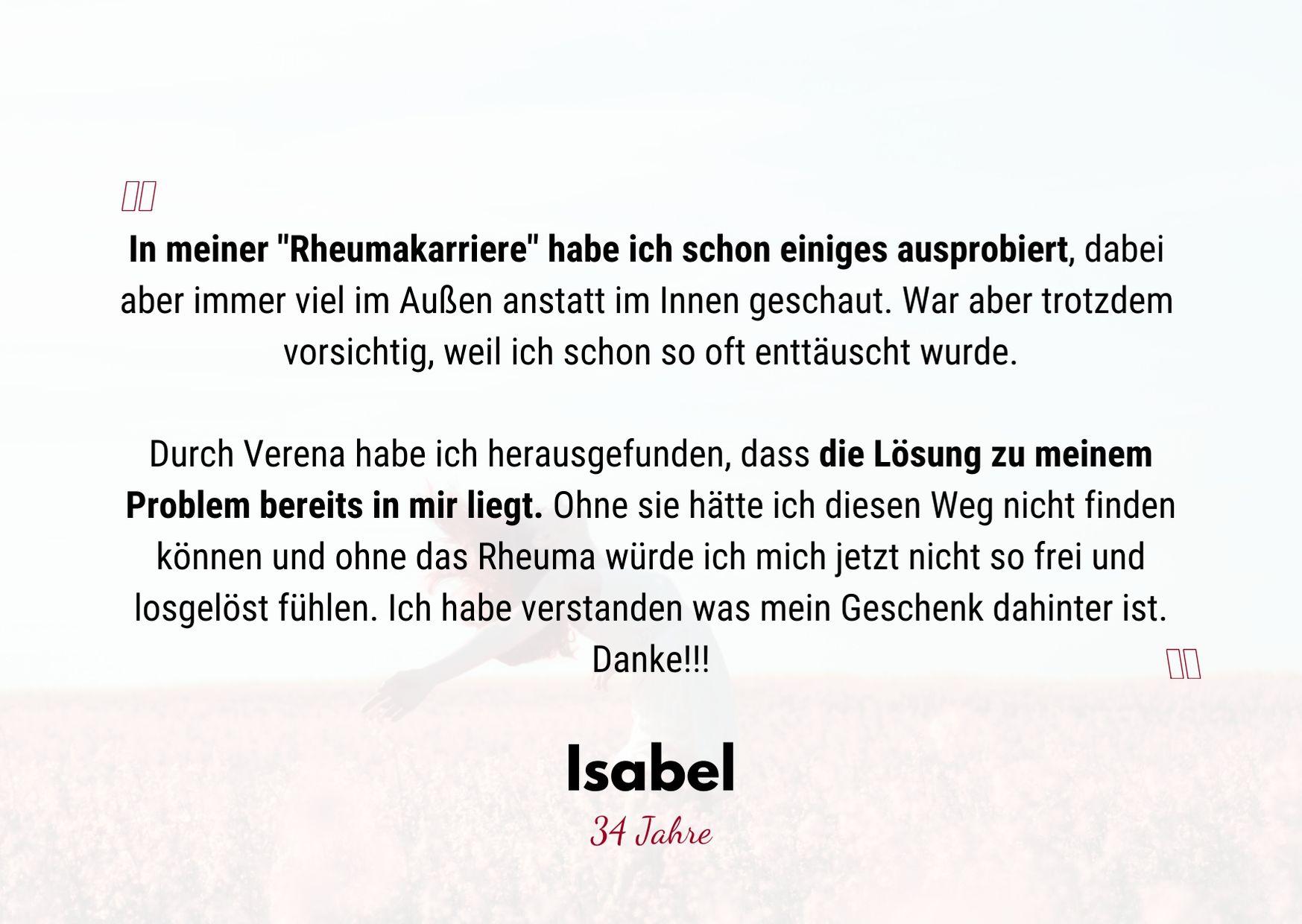Testimonial Isabel